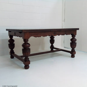 French Oak Antique Table NZ