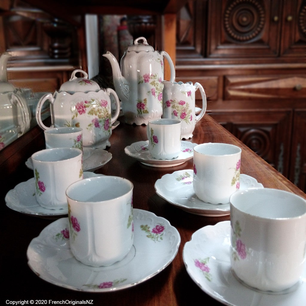 French Porcelain Rare Full Coffee Set NZ