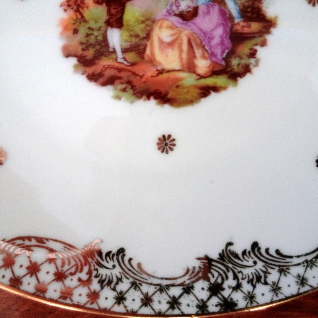 Limoges Porcelain Gold Edging detail NZ