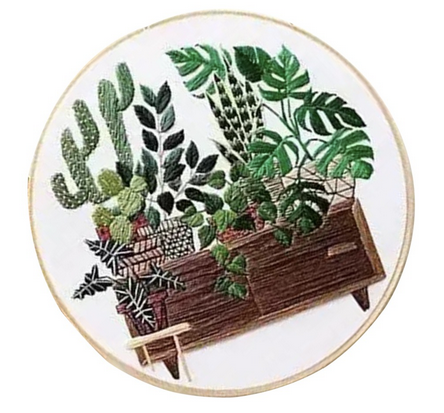 Plant Cross Stitch Kit