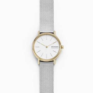 Signatur Slim Two-Tone Silk-Mesh Watch - Ladies -  No Box
