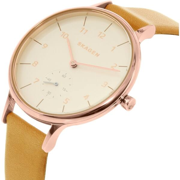 Signatur Two-Hand Pink Leather Watch