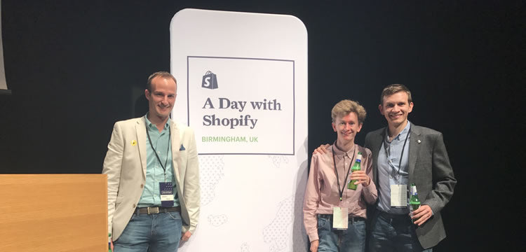 Meta team on stage at A Day With Shopify