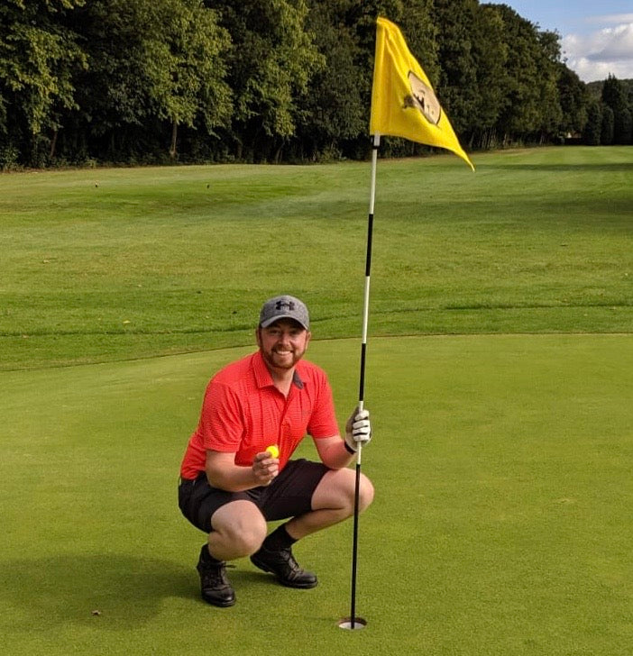 an Taylor, Project Manager at Meta enjoying a game of golf