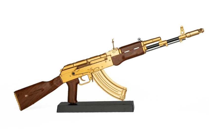 Goatguns Mini AK47 GOLD - Die Cast Model Toy