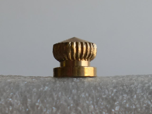 Unfinished Small Knurled Brass Knob