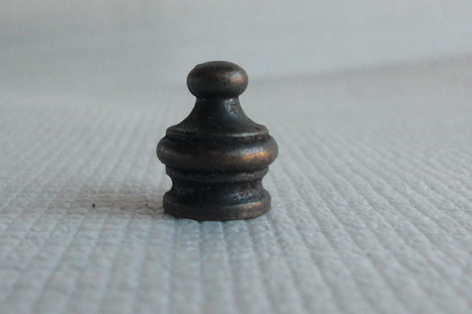 "Finial - Antique Brass - Tapped 1/4""-27"