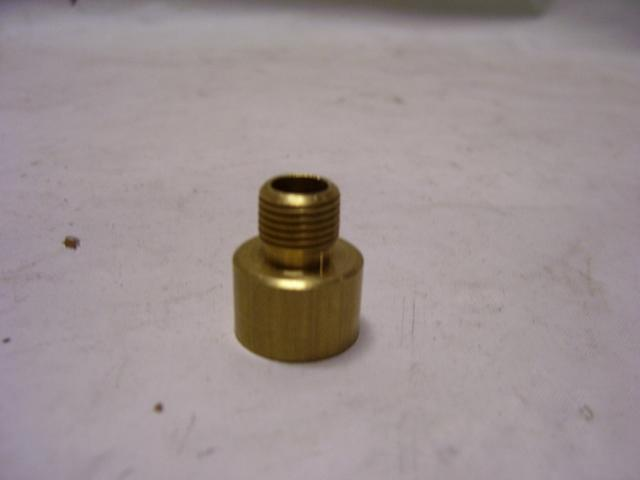 "Unfinished Brass Nozzle 3/8"" IPS Female x 1/8"" IPS male"
