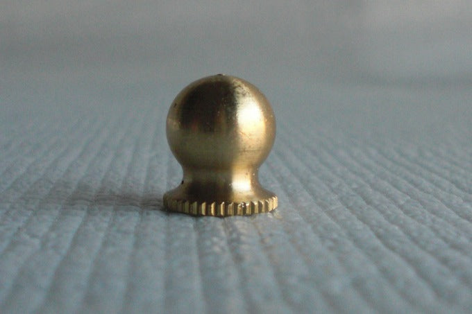 "Unfinished Finial or Knob - Tapped 1/4""-27"