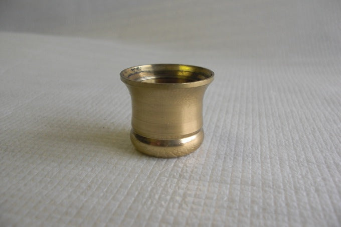 "Turned Brass Candle Cup - 1-1/4"" High - 3/4"" I.D."