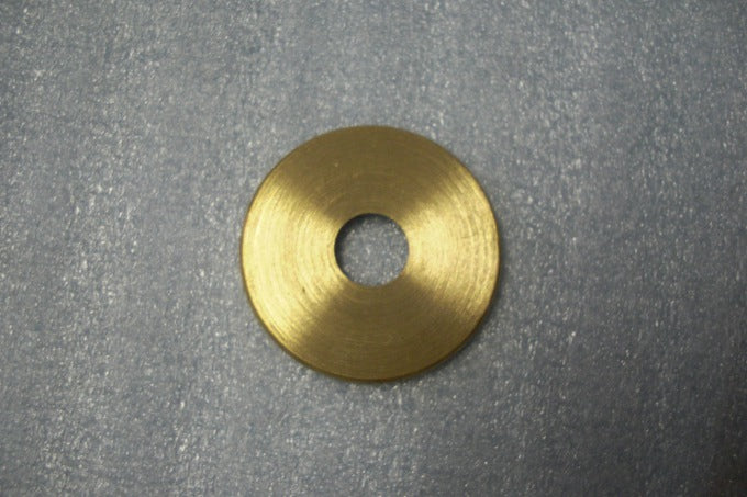 "Turned Solid Brass Check Ring - 1-3/8"" - Burnished & Lacquered"