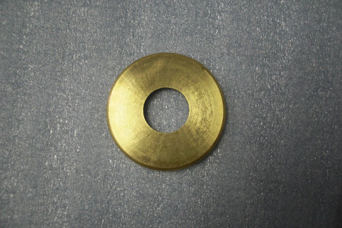 "1-1/8"" Turned Solid Brass Check Rings - Unfinished Brass - Slip"