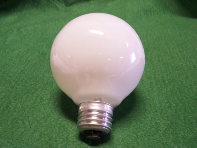 60W Medium Base White Globe bulb