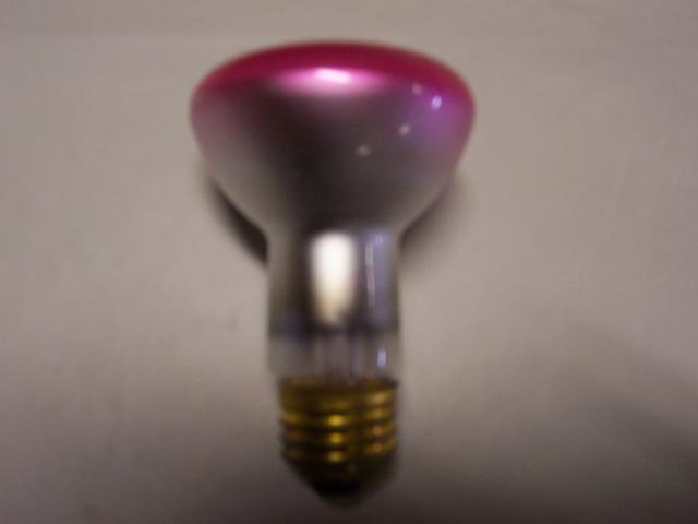 50W Medium Base Reflector Bulb - Pink 120 VOLT