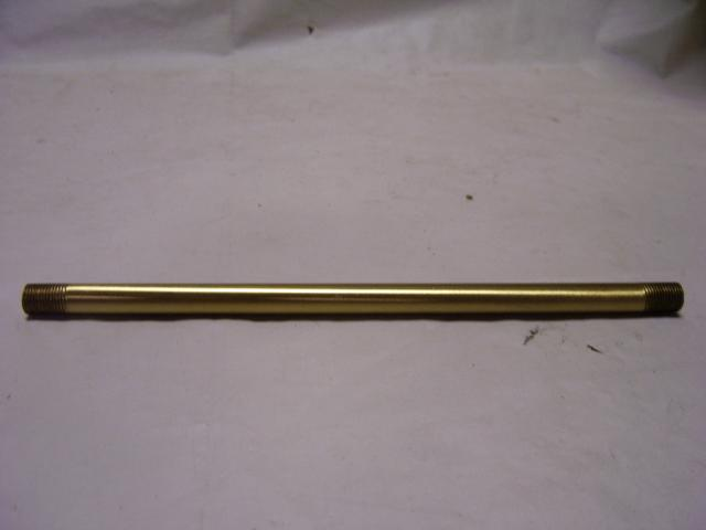 "Unfinished Brass Pipe 7"" - Threaded Both Ends 1/8"" IPS - 1/2"" LO"