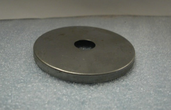 "5"" Steel Round Flat Plate - Center Hole Can Slip 1/8"" IPS"