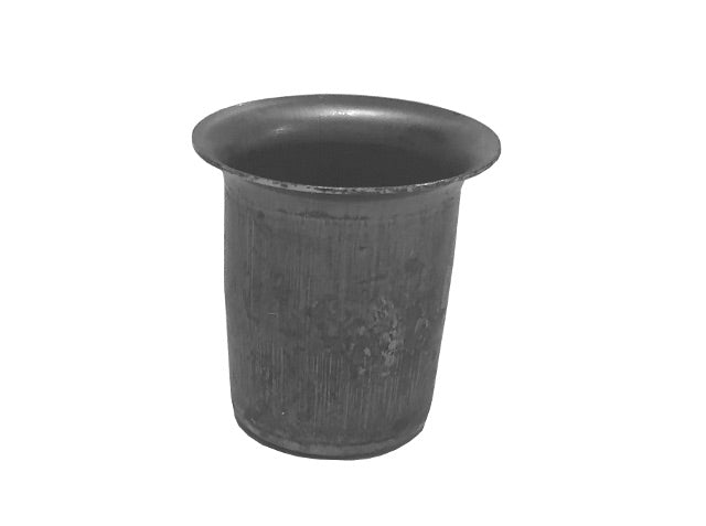 "Steel Candle Cup - Unfinished Steel - 1-1/8"" High - 15/16"" Diameter"