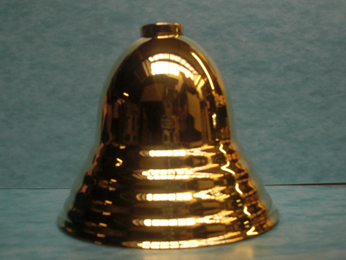 "Bell Canopy - Polished & Lacquered - Brass - 5-1/8"" Diameter - 4"