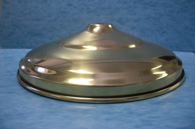 "Large Canopy Pan or Base - Brass Plated - 8"" Diameter - 1-3/4"" D"