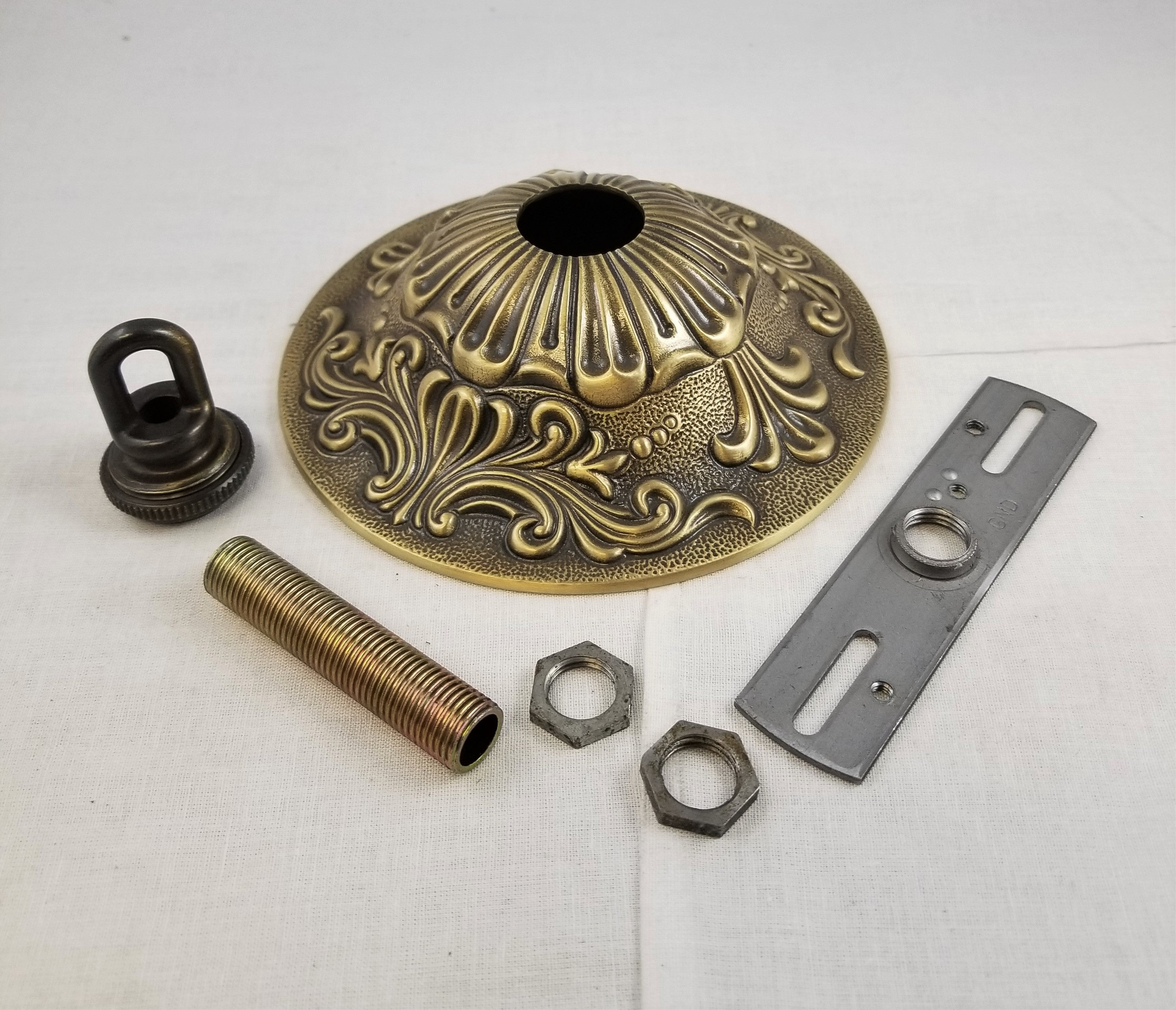 Canopy Kit - Cast Brass with Antique Brass Finish