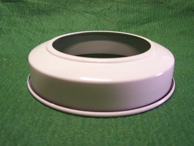 "Canopy Extension Collar - White - 6"" Wide - 1-1/2"" Deep"