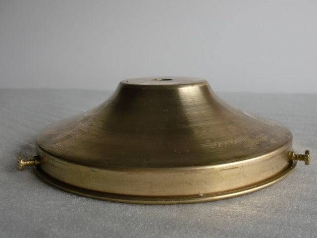 "6"" Unfinished Brass Holder with 3 screws"