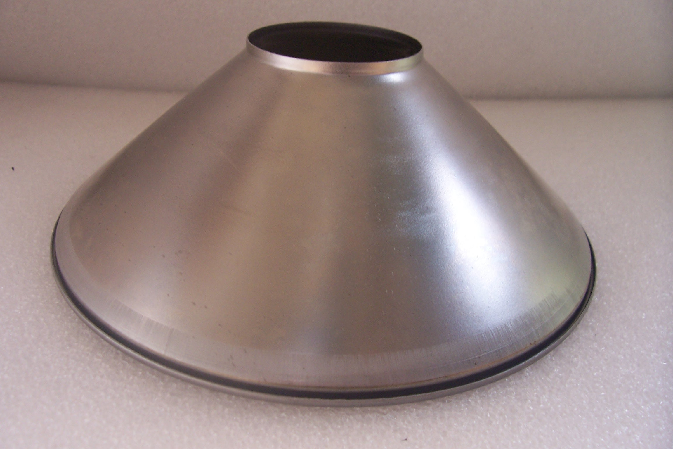 "Unfinished Steel Shade - 2"" Top Opening - 2-1/8"" High - 7"" Botto"