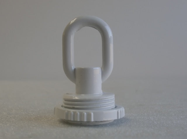 White Screw Collar Loop with a Wireway