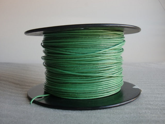 Approved Single Plastic Covered Green Fixture or Equipment Wire