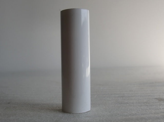 "4"" White Plastic Candle Cover - 3/4"" inside diameter"