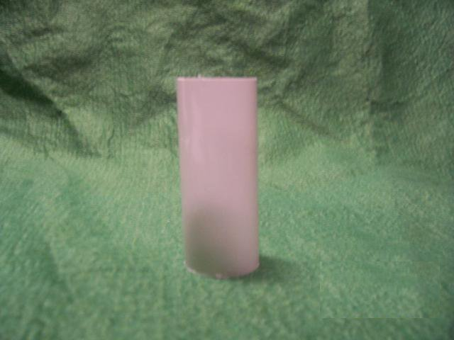 "3-1/2"" Plastic Candle Cover - White - 1-3/16"""