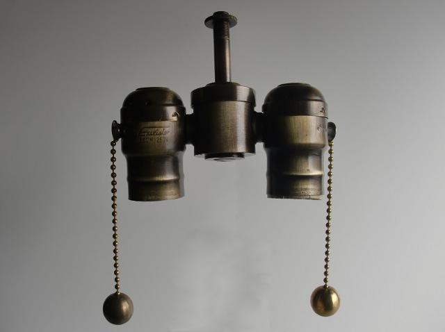 Antique Brass 2-Light Cluster Sockets