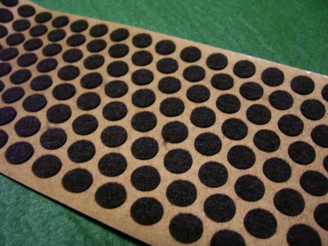 "Adhesive-back pads felt - brown 3/4""dia. Copy"