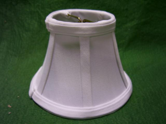 "White - stretched silk shade 3"" x 4"