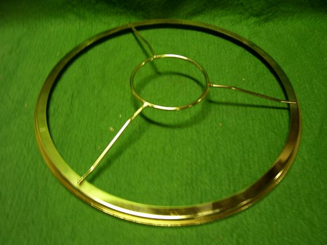 "7"" shade holder - Brass Plated 2-13/16""center"