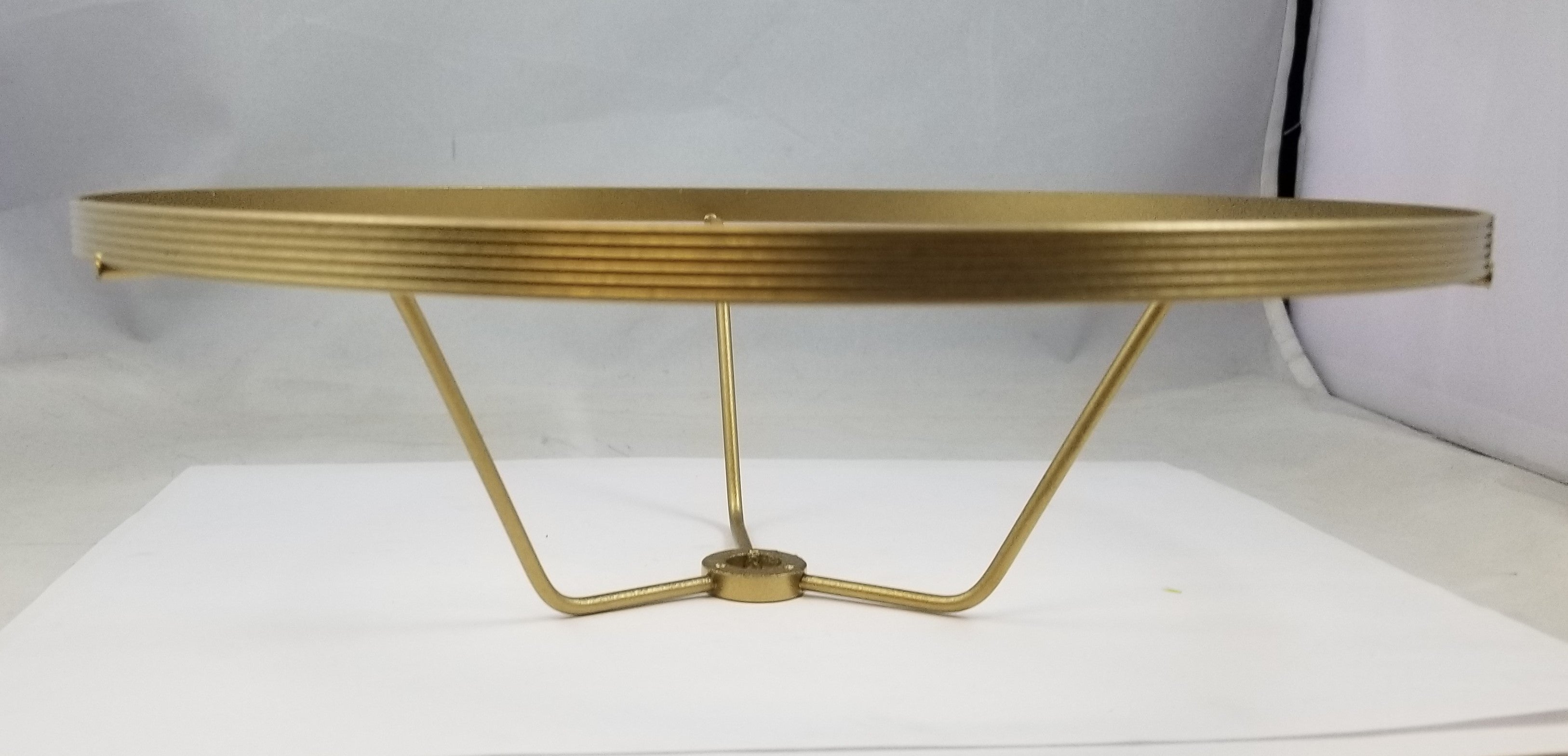 "10"" Brass Plated & Lacquered Student Shade Holder"