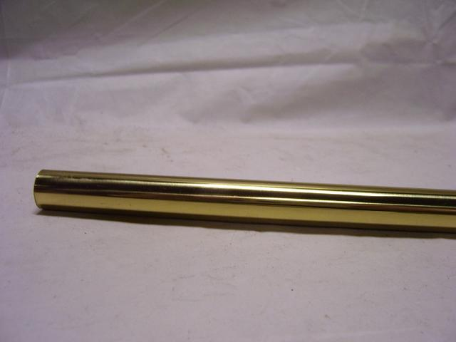 "3 Foot Brass Pipe - Brushed Brass - 1/2"" O.D. Soft Brass"