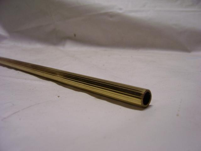"3/8"" Soft Brass Reeded Pipe - Unfinished - Sold in 3ft and 6ft L"