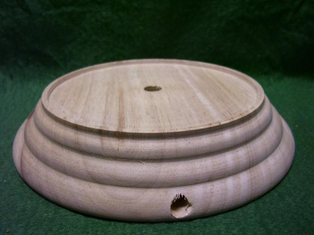 "4-1/4""insert wood base 1-1/8""ht"