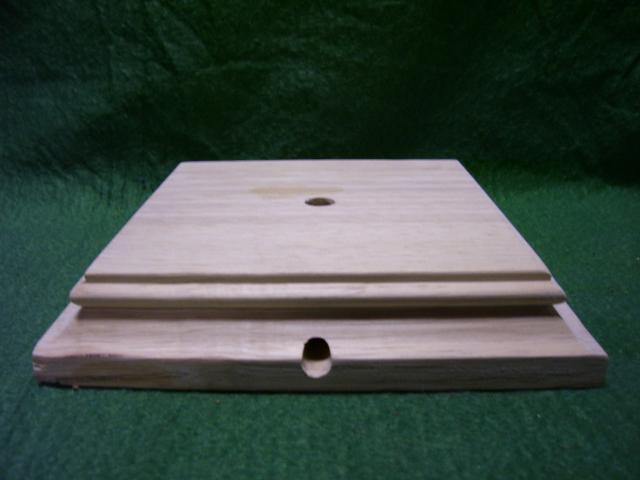 "4""square grooved base 1-1/8""ht"