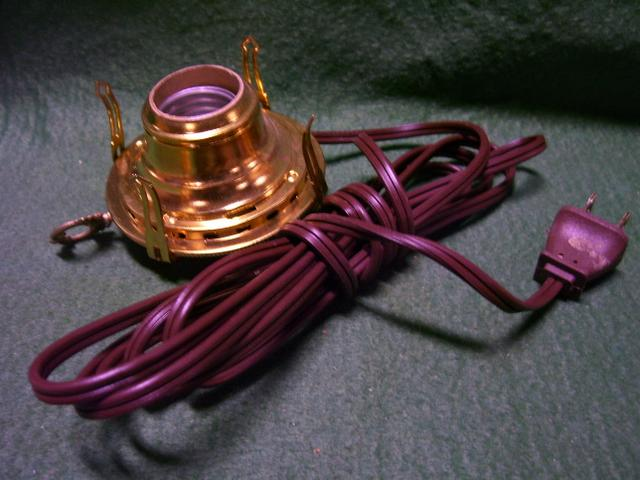 all brass wired burners-#2-white cord