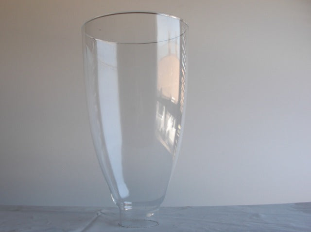 "Plain Crystal Hurricane Shade 4-3/4""top dia. **ONLY 12 LEFT**"