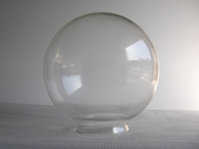 "8"" Clear Globe with a 4""fitter"