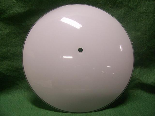 "white glass diffuser 12"" Dia-1-3/4""deep7/16""hole"