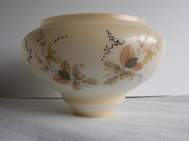 "5-1/4"" Peach Mist Floral Painted Fount"