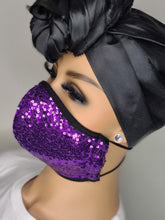 Load image into Gallery viewer, Amethyst Bling Face Mask