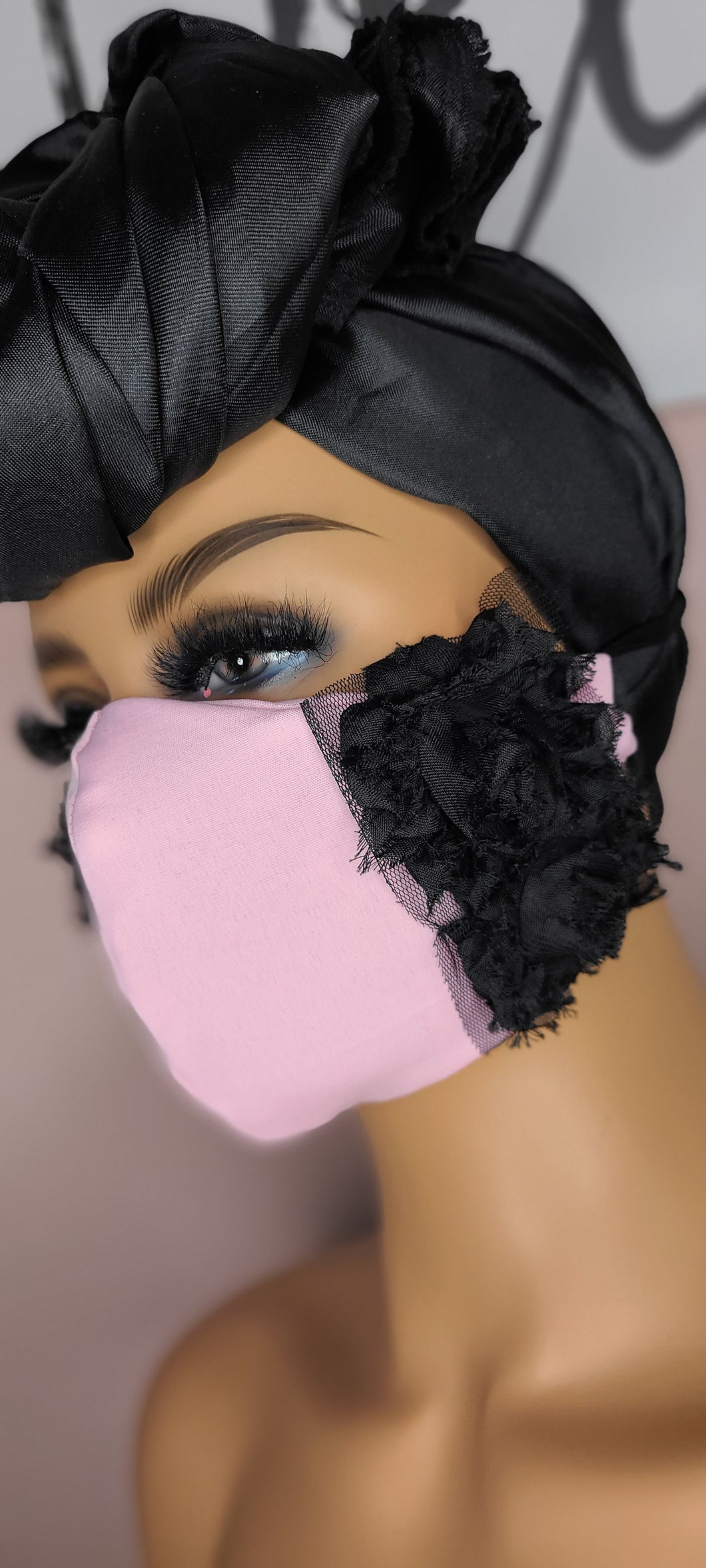 Pink Edge Valentine Face Mask