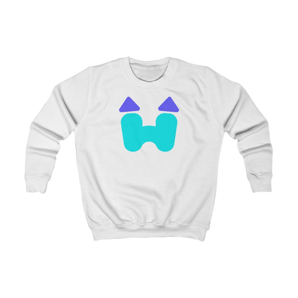 Kids Crewneck Sweatshirt in White