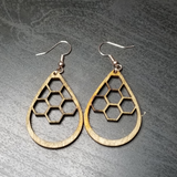 Teardrop Honeycomb Earrings