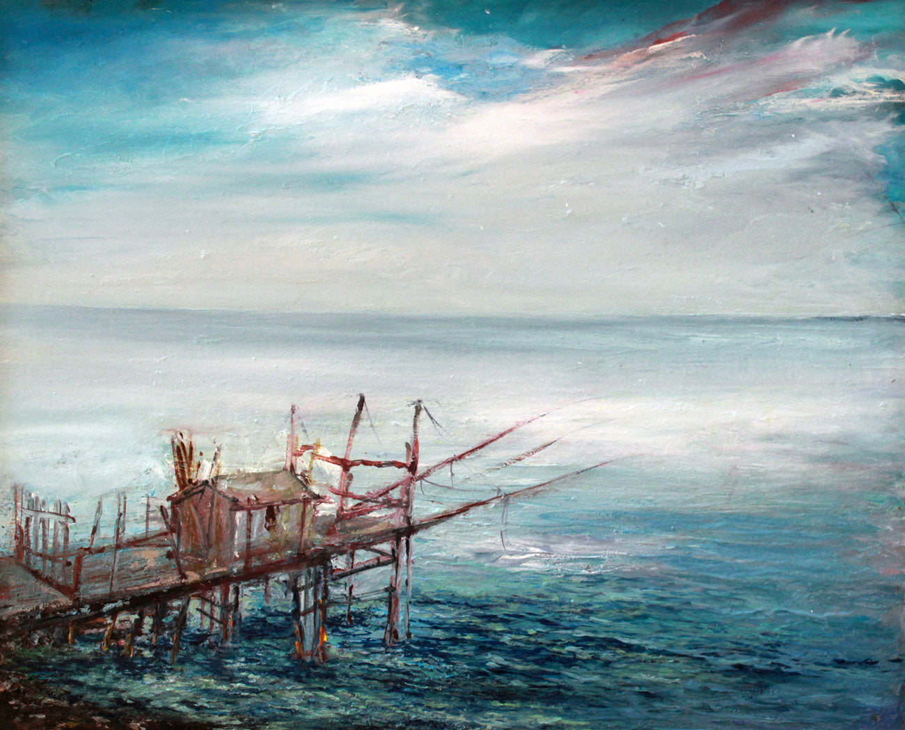 Il Trabucco | Oil and chalk on canvas